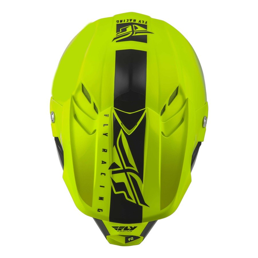 Helma Fly Racing F2 Carbon Shield yellow fluo/black