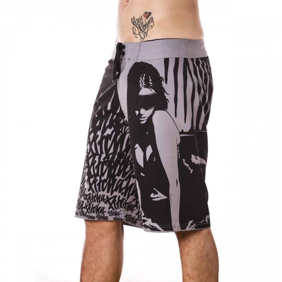 Plavky Pitcha STRIX Boardshort black/grey