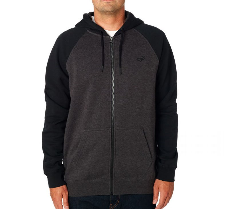 Mikina Fox Legacy zip fleece black/charcoal