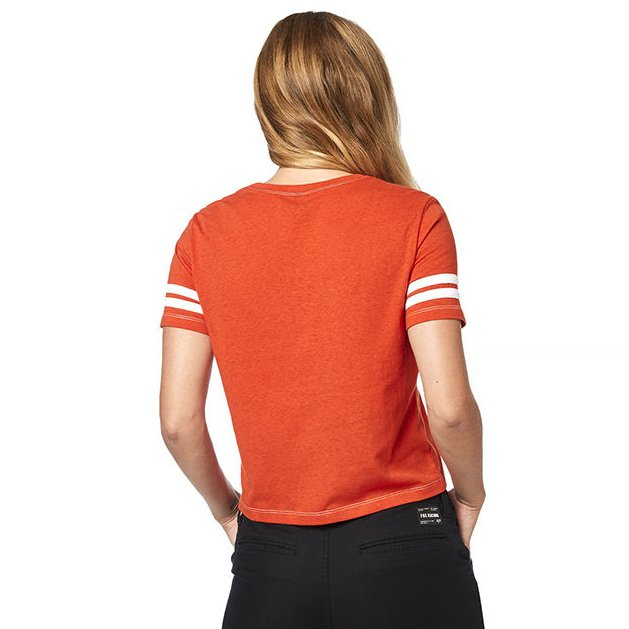 Triko Fox Established Ss Tee Atomic Orange