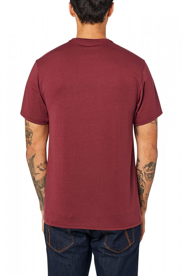 Triko Fox Overhaul Ss Tech Tee Cranberry