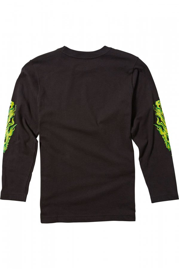 Dětské Triko Fox Youth Turn N Burn Ls Tee Black