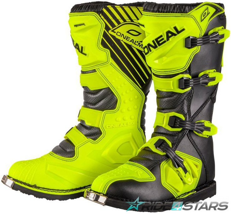 Boty ONeal Rider Boot Black/Neon Yellow US8