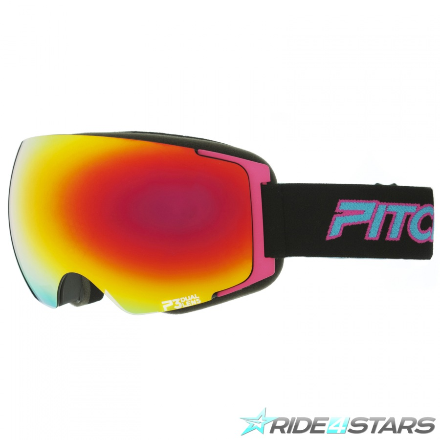 Brýle Pitcha Magno Black/Pink/Fire Mirorred