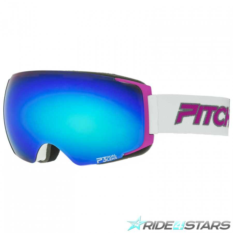 Brýle Pitcha Magno White/Pink/Blue Mirorred