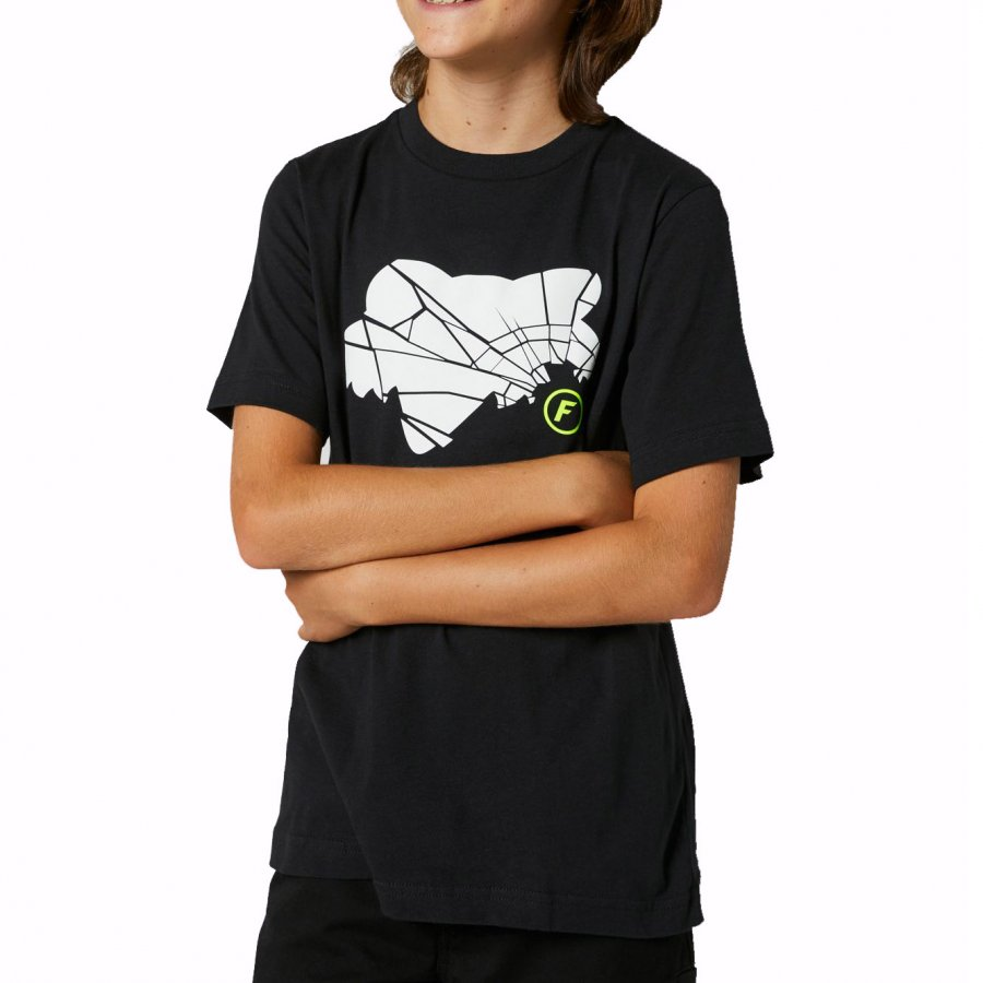 Dětské Triko Fox Youth Shattered Ss Tee Black