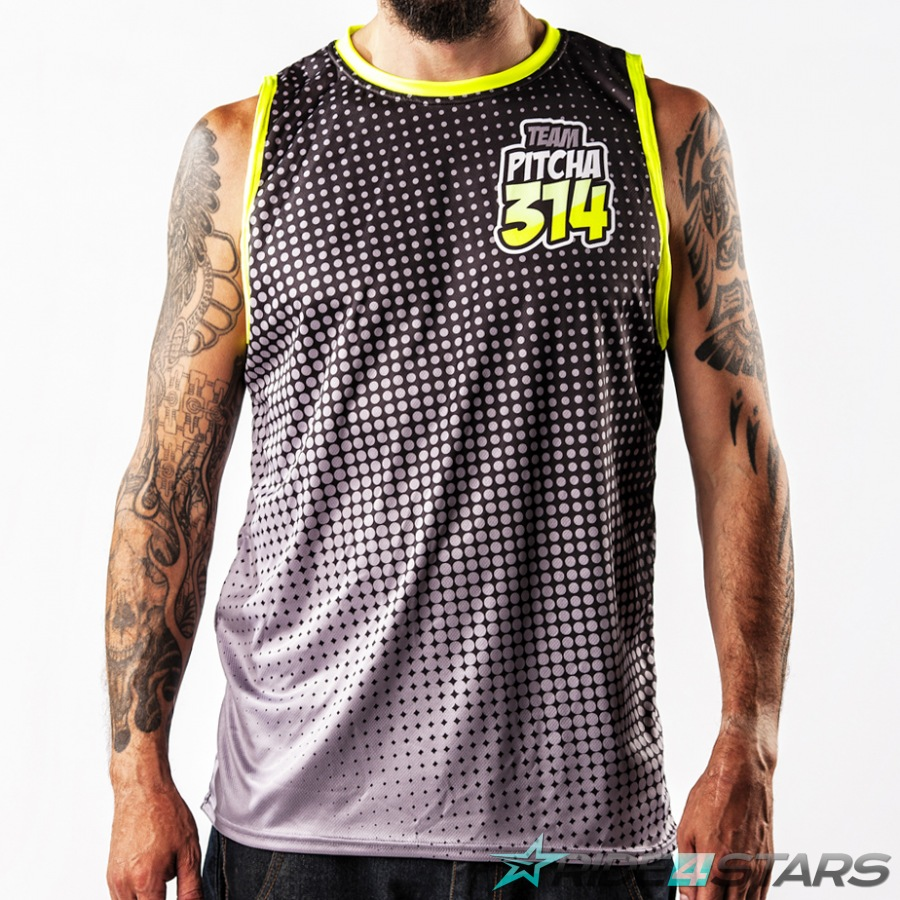 Dres Pitcha Halftone tank black/fluo yellow