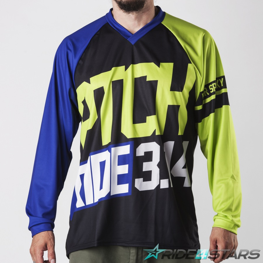 Dres Pitcha SPUNKER LS navy/fluo yellow