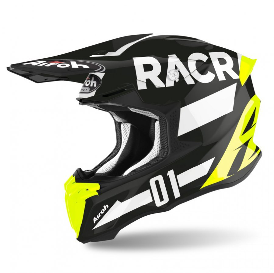 Helma Airoh Twist Racr black/white/fluo yellow