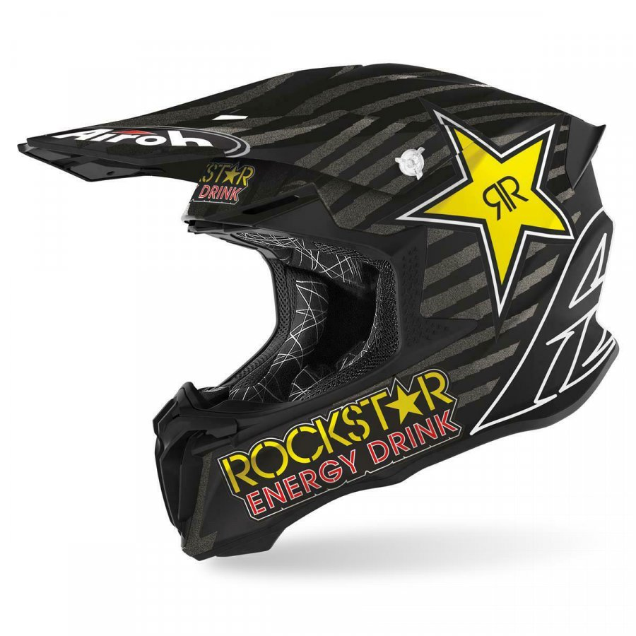 Helma Airoh Twist Rockstar 2020 black/white
