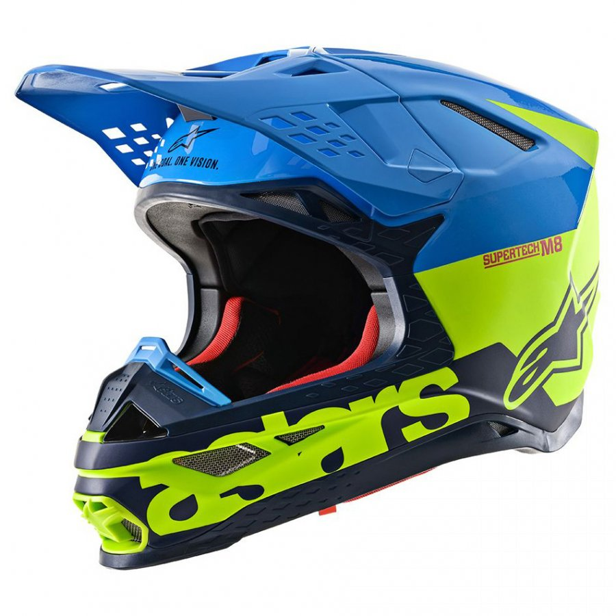 Helma Alpinestars Supertech S-M8 Radium 2020 blue/yellow fluo/dark blue