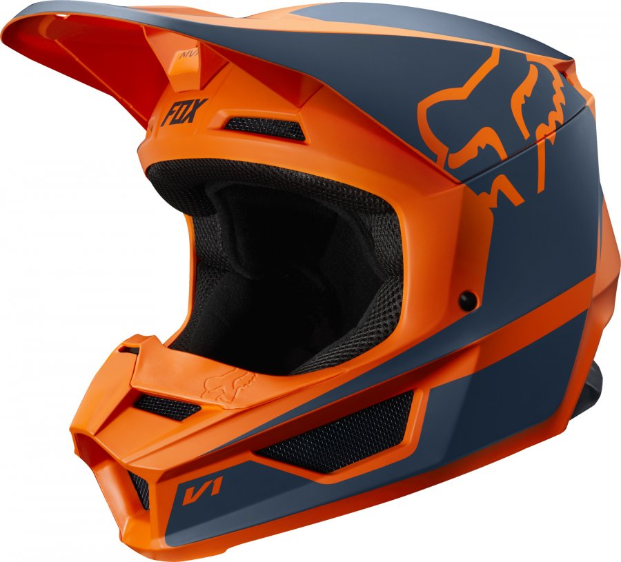 helma Fox V1 Przm helmet 2019 orange/grey