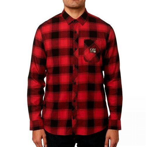Košile Fox Longview Ltwt Flannel Rio Red