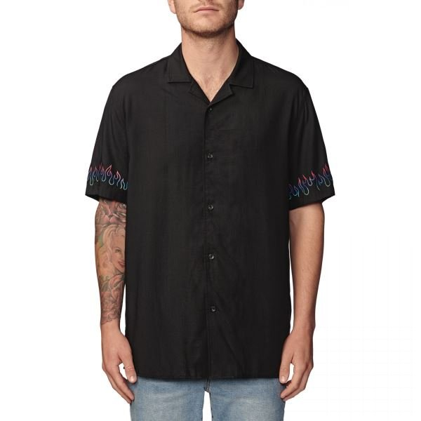 Košile Globe Blazed SS Shirt black