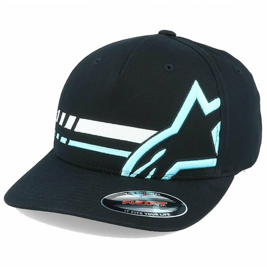 Kšiltovka Alpinestars Unified black/ turquoise/white