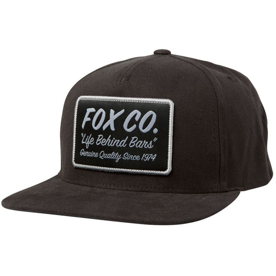Kšiltovka Fox Resin Snapback Hat black