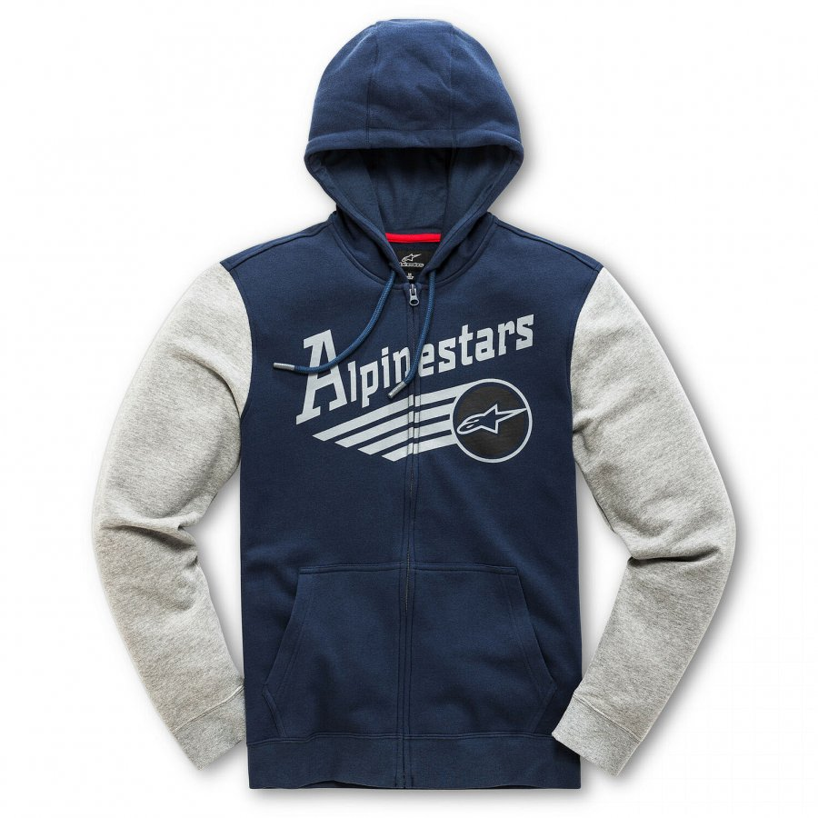 Mikina Alpinestars Chief Fleece Hoodie dark blue/grey