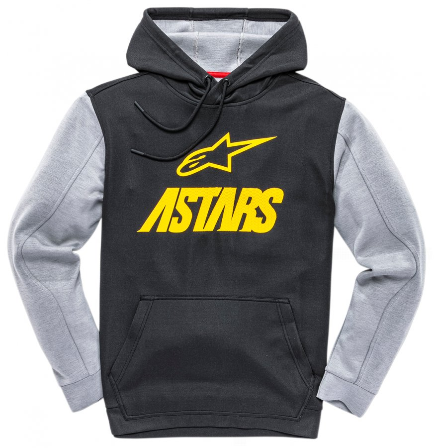 Mikina Alpinestars Converge Fleece black/yellow