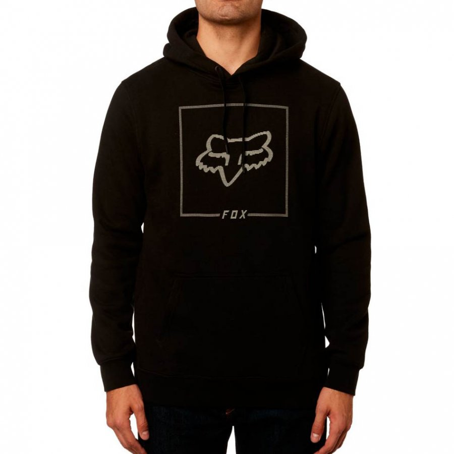 Mikina Fox Chapped Pullover Fleece Black