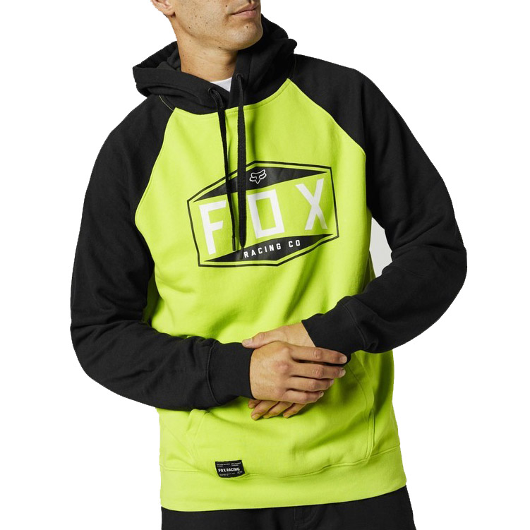 Mikina Fox Emblem Raglan Po Fleece Fluo Yellow