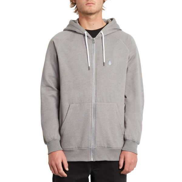 Mikina Volcom Timesoft Zip Heather Grey