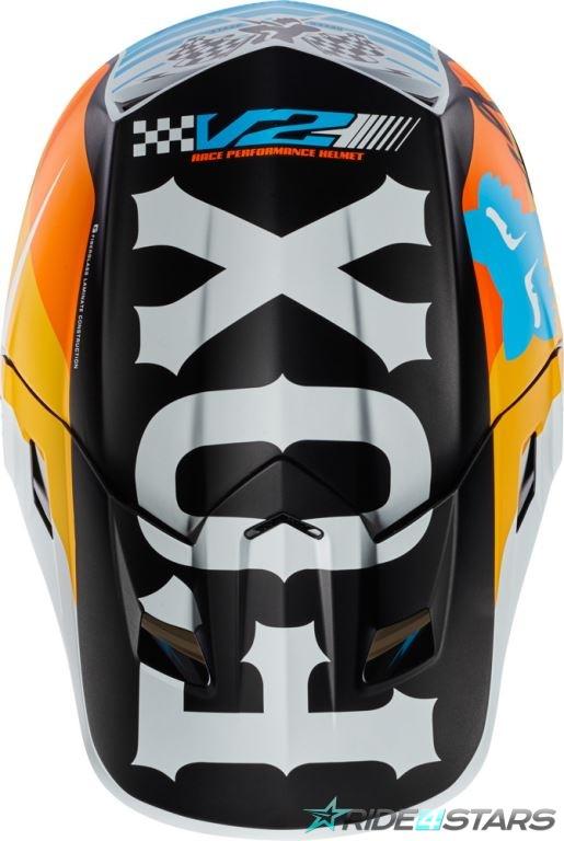 Náhradní kšilt Fox Racing V2 Rohr Helmet Visor White