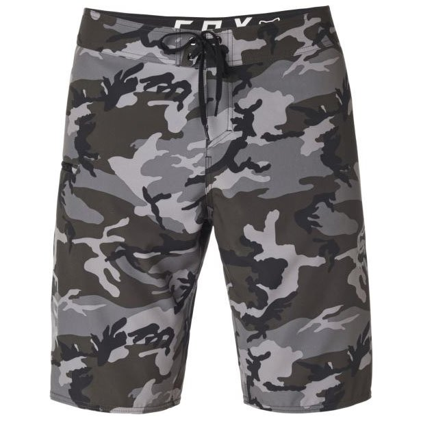 Plavky Fox Overhead Camo Stretch black camo