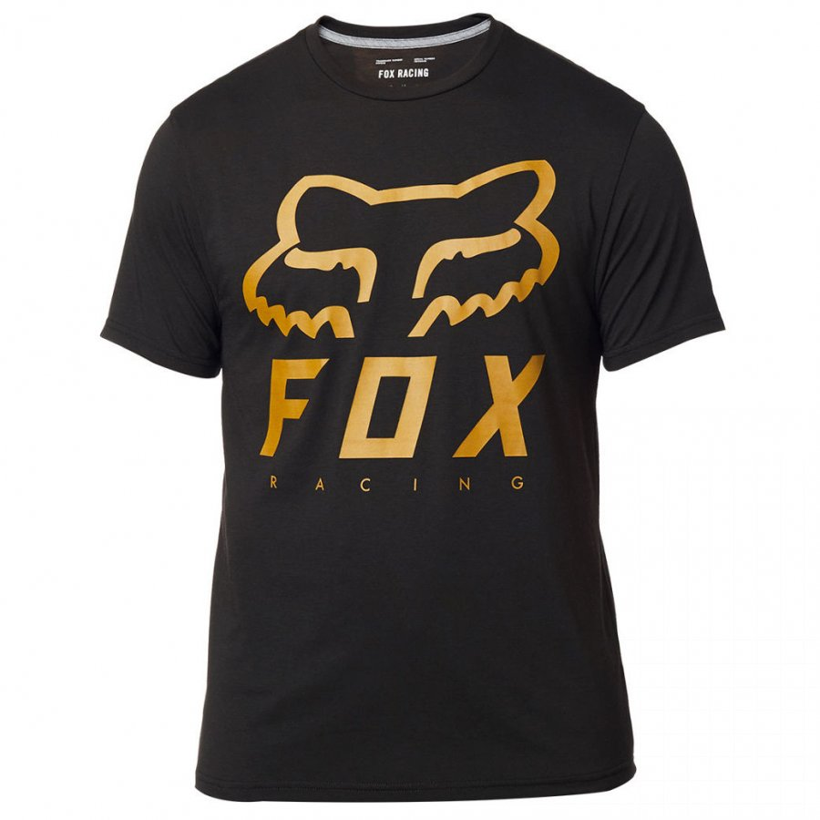 Triko Fox Heritage Forger Tech Tee black/yellow