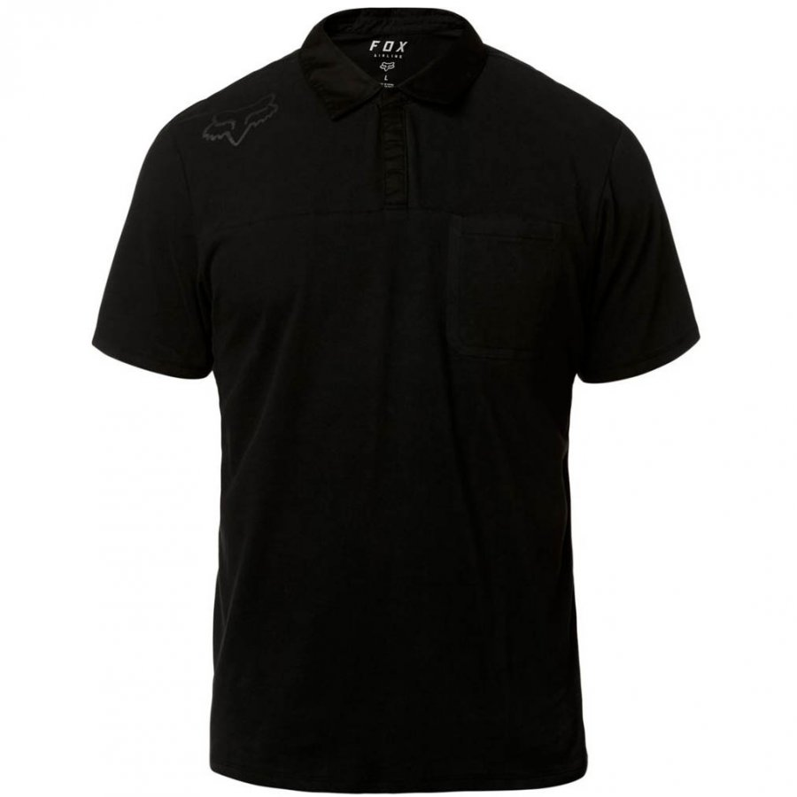 Triko Fox Redplate 360 Tech Polo Black/Black