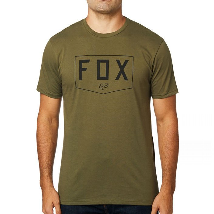 Triko Fox Shield Premium tee olive green