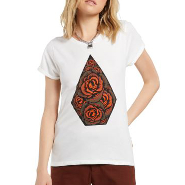 Triko Volcom Radical Daze Tee Star White
