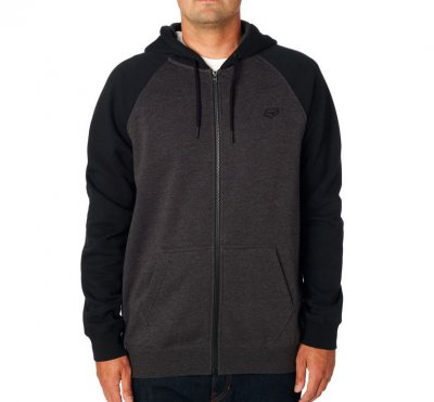 Mikina Fox Legacy zip fleece black/ch...