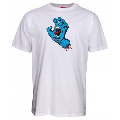 Triko Santa Cruz Screaming Hand white