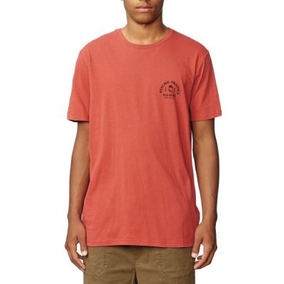 Triko Globe Sticker Tee III Fiery red