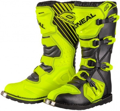 Boty ONeal Rider Boot Black/Neon Yellow