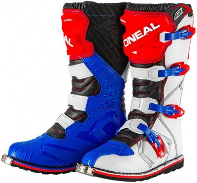 Boty ONeal Rider Boot Blue/Red/White