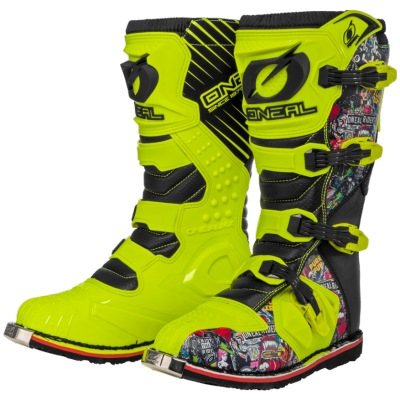 Boty ONeal Rider Boot Crank Yellow/Multi