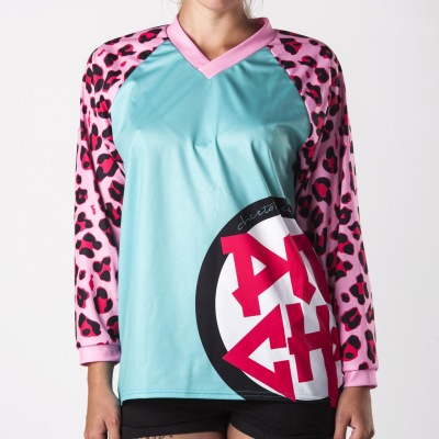 Dres Pitcha CHEETAH LS emerald/pink