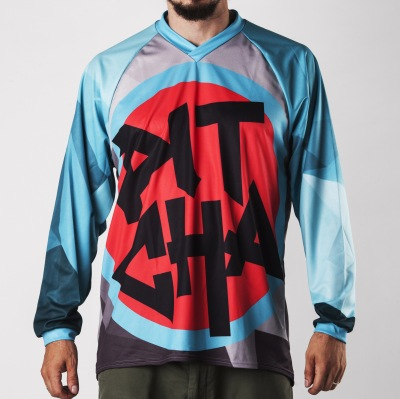 Dres Pitcha FORESTER LS turquoise/ras...