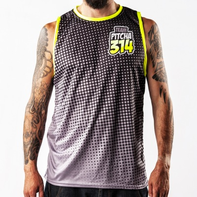 Dres Pitcha Halftone tank black/fluo ...