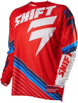 Dres Shift Strike Stripes Jersey Red
