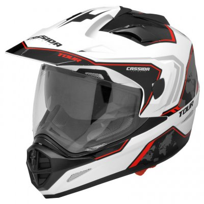 helma Cassida Tour Globe white/black/red