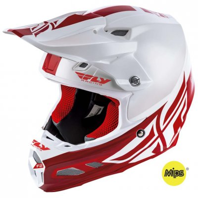 Helma Fly Racing F2 Carbon Shield whi...