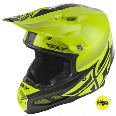 Helma Fly Racing F2 Carbon Shield yel...