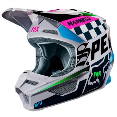 helma Fox V1 Czar helmet 2019 light grey