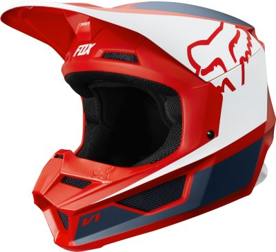 helma Fox V1 Przm helmet 2019 red/nav...