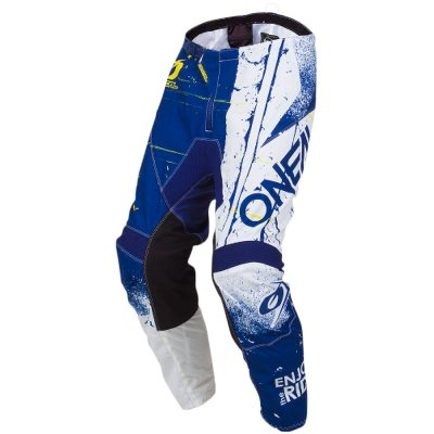 Kalhoty Oneal Element SHRED blue/white