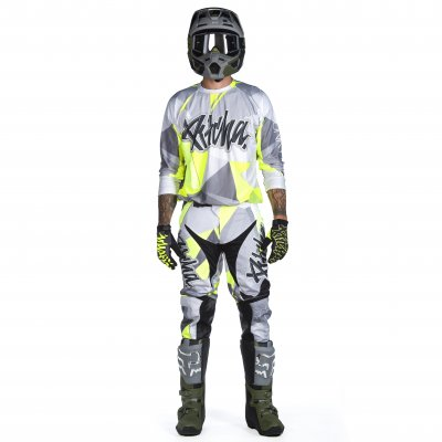 Kalhoty Pitcha FASTER pants grey/fluo...