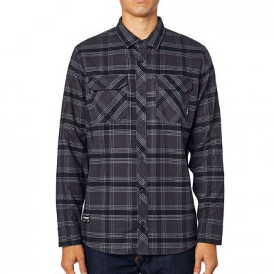 Košile Fox Fusion Tech Flannel Black ...