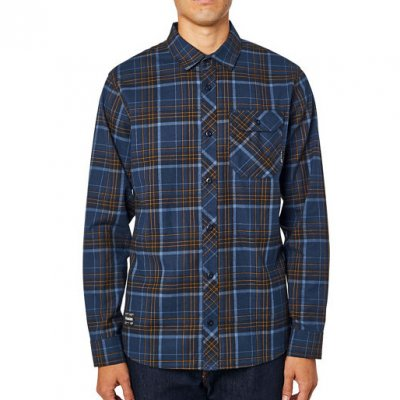Košile Fox Gamut Stretch Flannel Navy...